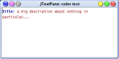 Programme de test des styles d'un JTextPane